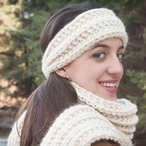 Super Bulky Mistake Stitch Scarf and Headband