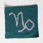 Capricorn Zodiac Crochet Dishcloth