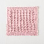 Simple Eyelet Washcloth