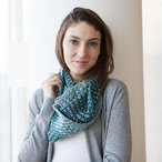Chromatic Granny Stripe Cowl
