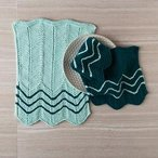 Chevron Dishtowel & Dishcloth