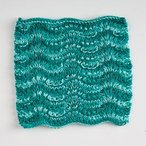 Ridged Feather Dishcloth