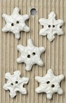 Handmade Snowflake Stoneware Buttons