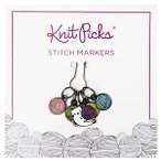 Enamel Stitch Markers - Kitty with Yarn Ball
