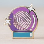 Crystal Yarn Ball Enamel Pin