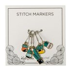Enamel Stitch Markers - Succulents