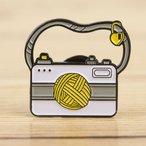 Enamel Pin - Fiber Focused Yarn Camera