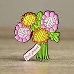 Enamel Pin - Treat Yourself Yarn Flowers