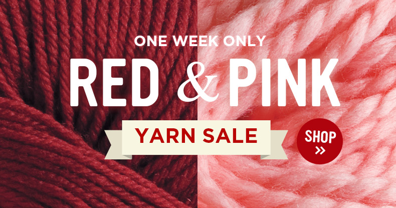 Pink & Red Yarn Sale!