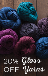 Monthly Yarn Sale - Save 20% off Gloss Yarn