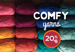 Monthly Yarn Sale - Save 20% on Comfy Yarn