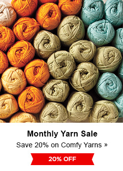 Monthly Yarn Sale - Save 20% on Comfy Yarns