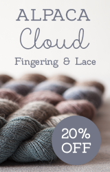 Monthly Yarn Sale - Save 20% off Alpaca Cloud Yarn