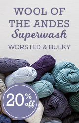 Monthly Yarn Sale - Save 20% off Wool of the Andes Superwash Yarn