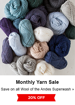 Monthly Yarn Sale - Save 20% on Wool of the Andes Superwash Yarns