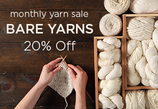 Monthly Yarn Sale - Save 20% on Bare Yarn