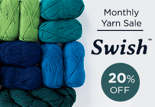 Monthly Yarn Sale - Save 20% on Swish Yarn