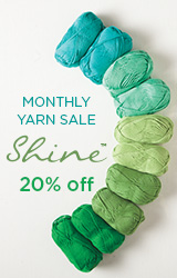 Monthly Yarn Sale - Save 20% off Shine Yarn