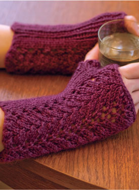 One-Skein Fingerless Lace Gloves Pattern
