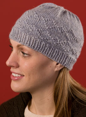 Purled Diamonds Hat Pattern