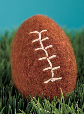 Crochet Felted Football Pattern