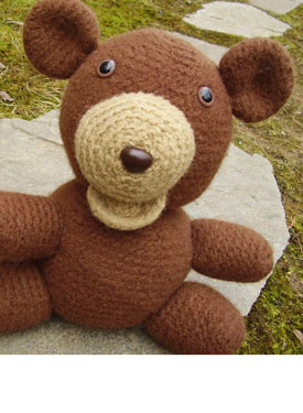 Gerry the Felted Bear Crochet Toy Pattern