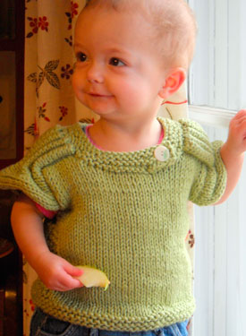 Baby Epaulette Sweater Pattern