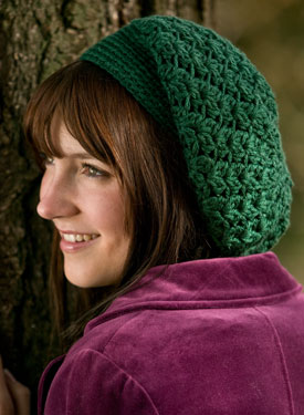 Galway Slouchy Crochet Beret Pattern
