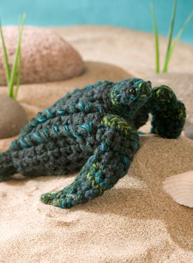 Mbé the Leatherback Sea Turtle Crochet Toy
