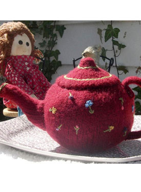 Knitted/Felted Teapot