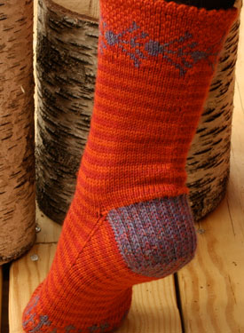 Sunset Folk Socks
