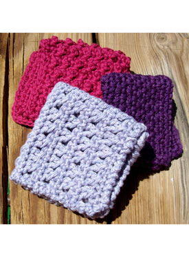 Spa Crochet Washcloths set of 3