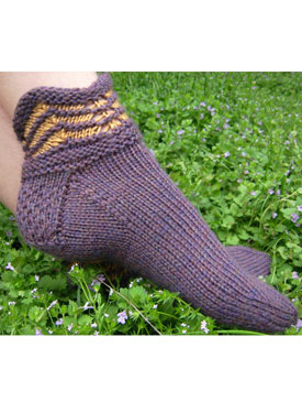 Purple Mountains Slipper Socks
