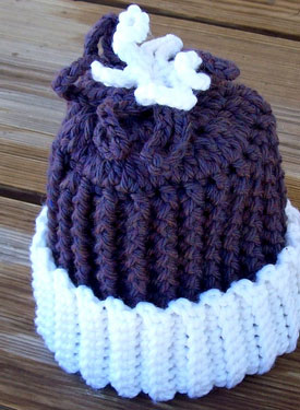 Frozen Flower Crochet Baby Hat