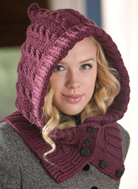 Through the Woods Hooded Neck  Warmer & Cuffs