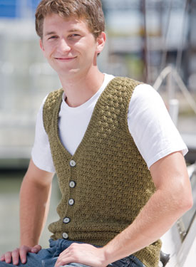 Men's Swish Crochet Vest
