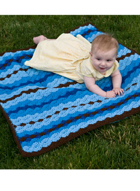 Shell Stitch Snuggle Blanket