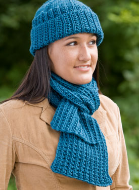 Farrow Rib Hat & Scarf Set