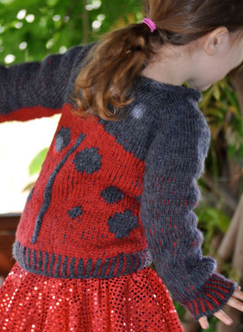 Armenian Knit Lady- Bug Sweater