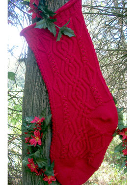Christmas Cable Heirloom Stocking