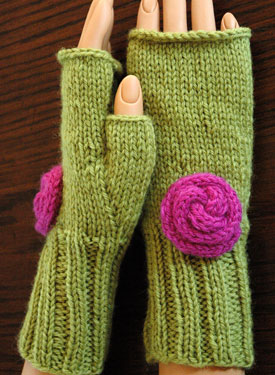 Rosy Fingerless Gloves
