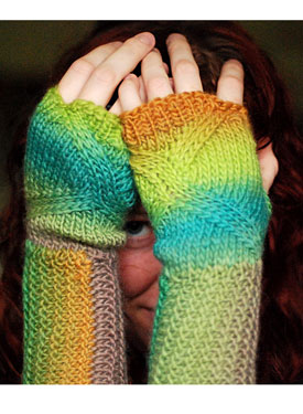 Swerve Fingerless Mitts