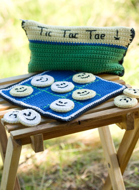 Crocheted Tic Tac Toe Game Set