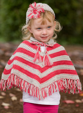 Child Crochet Poncho & Hat Set
