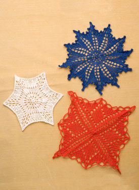 A Trio of Knitted Doilies