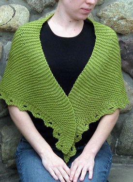 Gentle:  Reversible Shawl