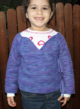 Sweet Promises Child Crochet Sweater