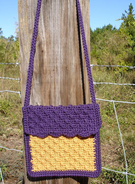 Little Girl's Cobblestone Crochet Purse