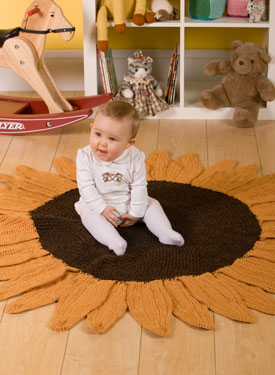 Sunflower Crochet Rug