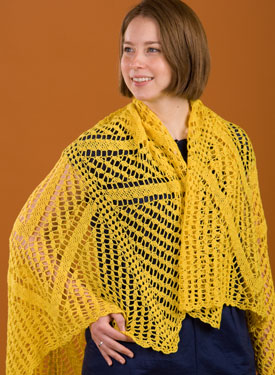 Star Burst Crochet Shawl